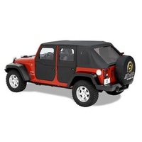 JK Supertop Two-Piece Rear Doors Black Diamond