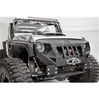 Fab Fours Grumper Winch Front Bumper in Black Powder Coat