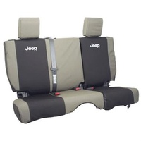 Jeep JK Seat Cover Rear Kh/Blk 07-10 4 door