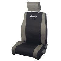 Jeep JK Seat Cover Front Kh/Blk