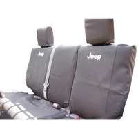 Jeep JK Seat Cover Rear Black 07-10 4d