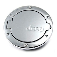 Jeep JK Fuel Door Chrome Alloy 4 door