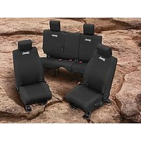 JK Seat Cover Rear Blk 07-10 4d