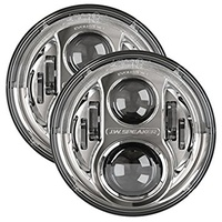 "JW Speaker Model 8700 Evolution J Chrome 7"" Round LED Headlights"