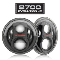 LED Headlights - Model 8700 Evolution J2 - Carbon