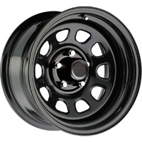 Series 52 Black Steel Wheel 17x8 5/127 6N
