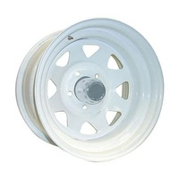 Series 82 White Steel Wheel 15x8 5/114.3 19N