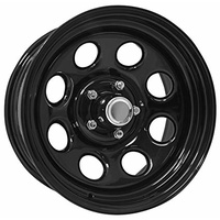 Series 98 Black Steel Wheel 16x7 5/5 (5/127) 4.25BS 6P