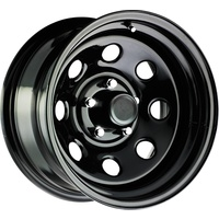 Series 98 Black Steel Wheel 17x8 5/114.3 6N