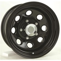 Series 98 Black Steel Wheel 17x8 5/127 6P