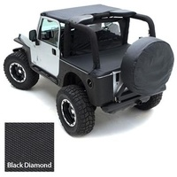 Smittybilt JK Tonneau Cover 4d - Black Diamond