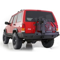 Smittybilt XJ Cherokee XRC Atlas Rear Bar w Tyre Carrier