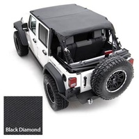 Smittybilt JK 4dr Extended Top 07-09 Black Diamond