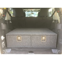 JK Double Lowline Drawer System Narrow - with side woofer