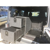 JK Double Stacked Drawer System - No side woofer