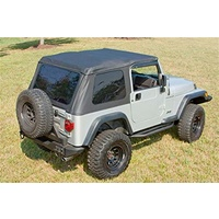 XHD Soft Top, Black Diamond, Bowless; 97-06 Jeep Wrangler TJ